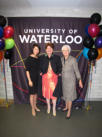 Ingrid's Award with Ingrid and Patricia Tsui - University of Waterloo - 2010