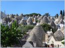 The Town of Alberobello in Puglia, Italy - September 2017